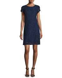 Laundry By Shelli Segal Short Sleeve Lace Dress Inkblot