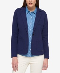 Tommy Hilfiger Double Faced Blazer Only At Macy's Navy Heather Grey
