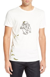 French Connection 'Banana Trail' Graphic T Shirt Cuba White
