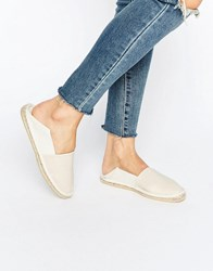 Asos Jax Slip On Espadrilles Natural Beige