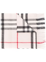 Burberry Cashmere Check Scarf Grey