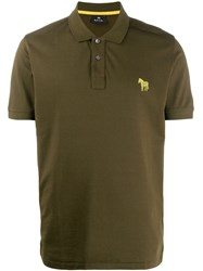 Paul Smith Ps Zebra Embroidery Polo Shirt Green