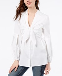 Inc International Concepts Tie Front Shirt Created For Macy's White
