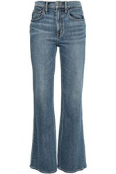 Vince. Woman High Rise Flared Jeans Mid Denim