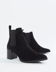 Head Over Heels Pagey Block Heel Chelsea Boots Black