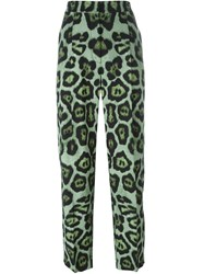 Givenchy Leopard Print Trousers Green