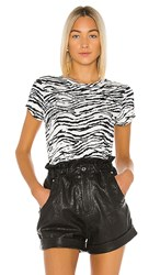 Pam And Gela Tiger Crew Neck Tee In White.