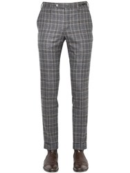 Pt01 18Cm Evo Fit Plaid Brushed Wool Pants