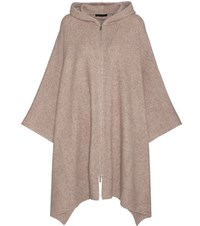 The Row Asham Cashmere And Silk Blend Poncho Beige