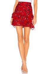 Tanya Taylor Abby Skirt Red