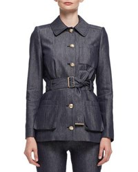 Lanvin Military Jean Jacket Blue Jean