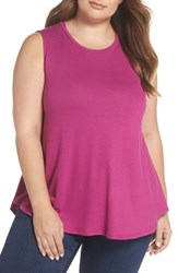 Gibson Plus Size Women's X Living In Yellow Millie Muscle Tank Deep Violet