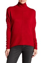 Sweet Romeo Seamed Front Mock Turtleneck Sweater Petite Red