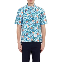 Thom Browne Microfiber Swim Shirt Lt. Blue