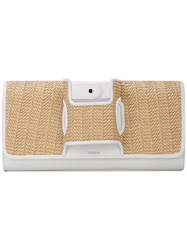 Perrin Paris La Capitale Clutch White