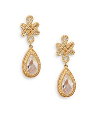 Freida Rothman Love Knot Teardrop Earrings Gold