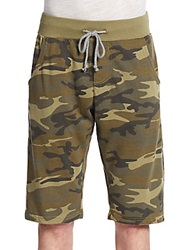 Alternative Apparel Camouflage Print French Terry Knit Shorts