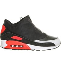 Nike Air Max 90 Utility Leather Trainers Black Grey Crimson