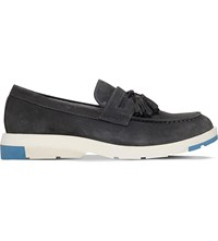 Anthony Miles Mercer Tasselled Suede Loafers Grey