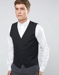 Selected Homme Waistcoat With Stretch In Slim Fit Black