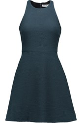 Elizabeth And James Magdalena Textured Stretch Knit Mini Dress Emerald