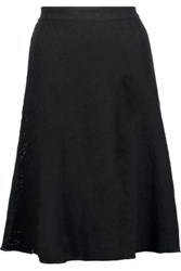 M Missoni Stretch Knit Jacquard Skirt Black