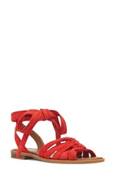 Nine West 'S Xameera Knotted Sandal Red Suede