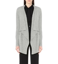 Diane Von Furstenberg Erika Cashmere Waterfall Cardigan Heather Grey