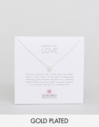 Dogeared Gold Filled Pearls Of Love Necklace Gold