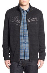 Men's Lucky Brand 'Indian Motorcycle' Zip Front Cardigan