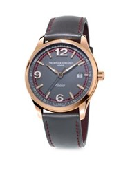 Frederique Constant Healey Stainless Steel Automatic Strap Watch Rose Gold