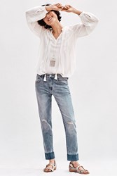 Anthropologie Pilcro Em Relaxed High Rise Jeans Denim