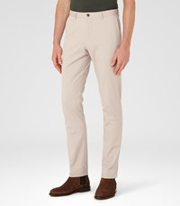 Reiss Friston Mens Twill Chinos In Brown