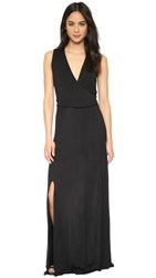Haute Hippie Wrap Front Dress Black