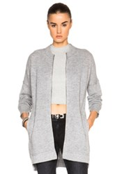Inhabit Cashmere Thermal Cardigan In Gray