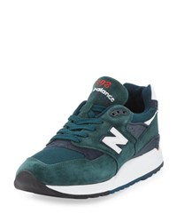 New Balance Men's Age Of Exploration 998 Colorblock Sneaker Green Navy Green Navy