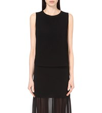 Sandro Elia Sleeveless Lace Reverse Top Noir