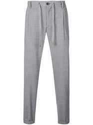 Eleventy Drawstring Trousers Grey