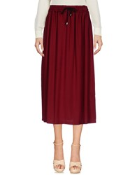 Boutique De La Femme 3 4 Length Skirts Maroon