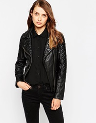 Barney's Originals Ito Leather Biker Jacket Black