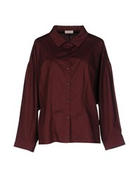 Maison Ullens Shirts Maroon