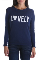 Kut From The Kloth Lovely Pullover Sweater Navy
