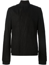 Julius High Neck Fitted Jacket Black