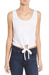 Women's Cupcakes And Cashmere 'Rosie' Crop Linen Tank