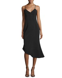 Keepsake Rip Tide Sleeveless Asymmetric Dress Black