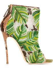 Dsquared2 Embroidered Boots Green