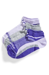 Zella 'Fitness' Liner Socks 3 Pack Purple Aura Grey