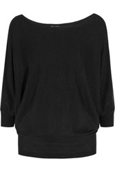 Splendid Bailey Cutout Stretch Knit Top Black