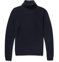 Brioni Cashmere Rollneck Sweater Navy