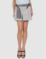 Barbara Bui Skirts Mini Skirts Women Light Grey